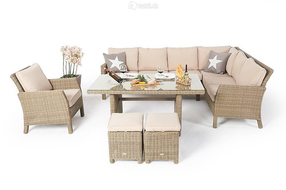 rattan gartenm bel rattan tisch rattan eckbank in st gallen kaufen viplounge. Black Bedroom Furniture Sets. Home Design Ideas