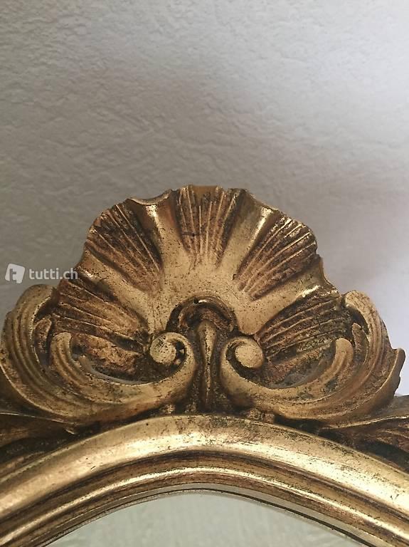 dekorativer spiegel mit goldrahmen 50 j hrig in solothurn kaufen. Black Bedroom Furniture Sets. Home Design Ideas