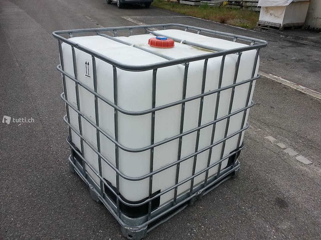 ibc 1000 liter regenwassertank in aargau kaufen. Black Bedroom Furniture Sets. Home Design Ideas