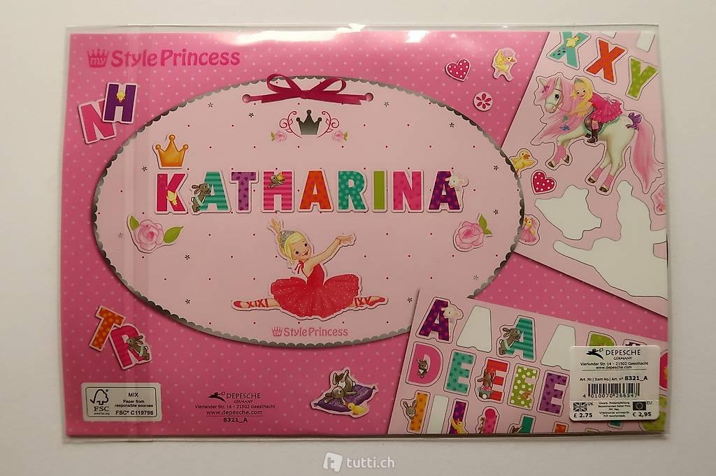 Depesche 8321/_A Türschild Style Princess selbst gestalten mit Stickern