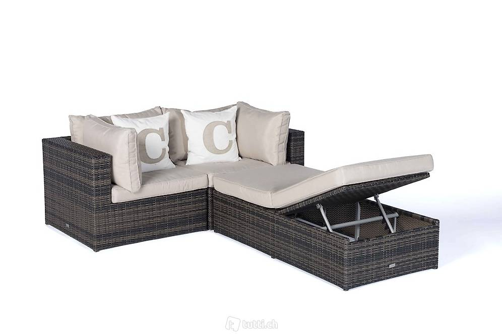 rattan lounge liege braunes geflecht rattan gartenm bel. Black Bedroom Furniture Sets. Home Design Ideas