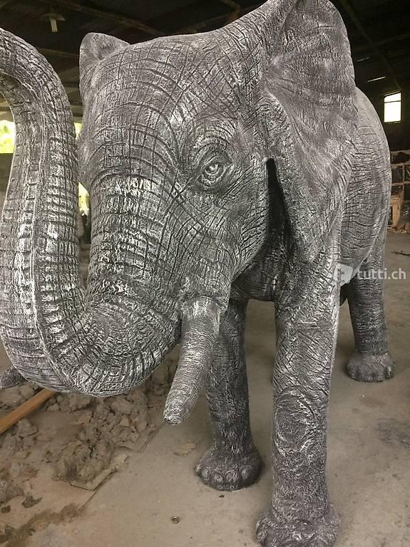 Elefanten Skulptur Stein Elefant Statue Elephant Kunst In