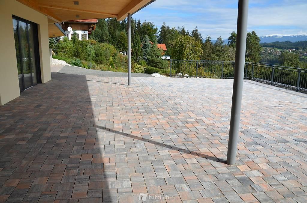 betonverbundsteine pflastersteine trendige grau orange 6 cm in z rich kaufen q d natursteine. Black Bedroom Furniture Sets. Home Design Ideas