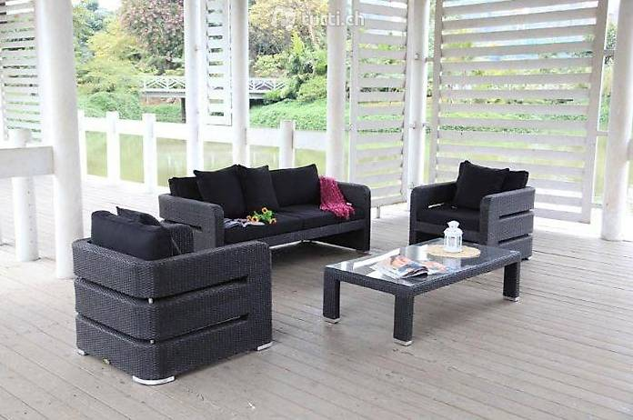 edle rattan lounge rattan gartenm bel in z rich kaufen viplounge. Black Bedroom Furniture Sets. Home Design Ideas