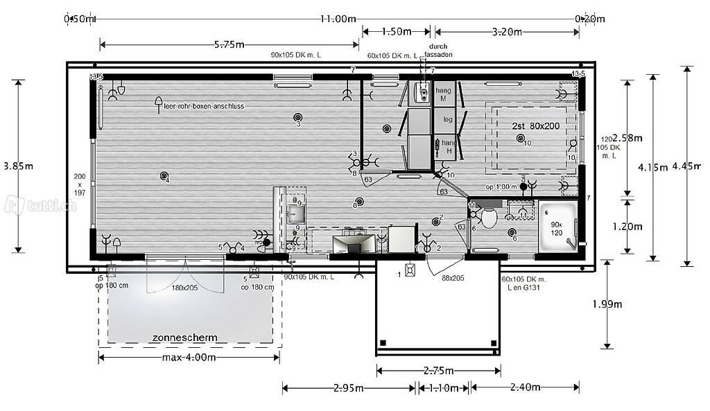 xhcm swiss edition mobilhome modulhaus 44m2 in st gallen kaufen robert hefti. Black Bedroom Furniture Sets. Home Design Ideas
