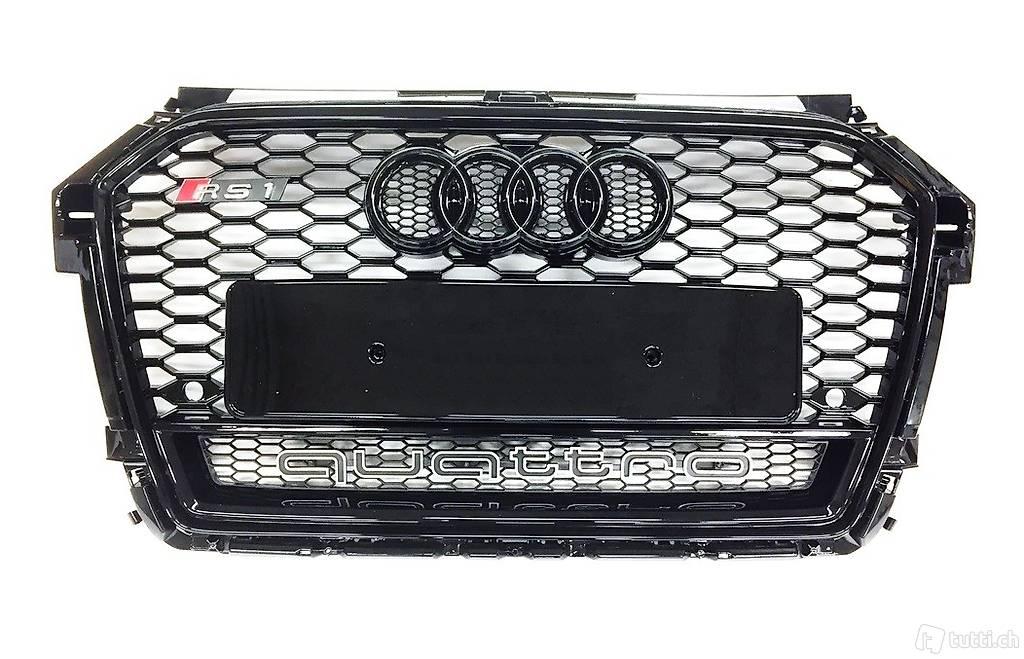 rs1 grill schwarz audi a1 s1 s line facelift ab 2014. Black Bedroom Furniture Sets. Home Design Ideas
