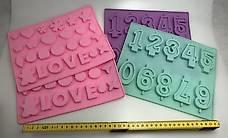 4x Silikon Backformen Zahlen / Love