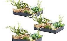 Vertikaler Wandgarten Lisa mit Deko-Pflanzen, 3er-Set