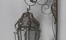 Grosse Laterne rustikal braun für an die zu Wand montiern