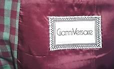 Vintage Versace Sakko / veston Vichy Karo, grün-weinrot
