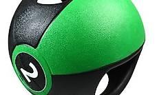 Pure2Improve Medizinball mit Griffen 2 kg Grün