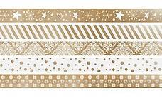 Heyda Washi Tape Weihnachten Gold, Farbe