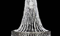Kristall Anhänger Kronlampe 36,5 x 46 cm