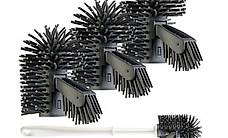 3er-Set Silikon-Bürstenköpfe mit Spülrandreiniger für WC-Bür
