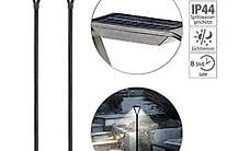 2er-Set moderne Design-LED-Gartenlaternen, Solarpanel, 50 lm