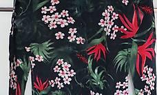 Strickjäckli mit farbigem Blumenmuster / Grösse M-L