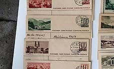 12 alte Postkarten