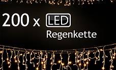 Regen Lichterkette mit 200 LEDs 10 (Gratis Lieferung)