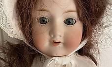 Antike Puppe Mädchen Gelenke beweglich Schlafaugen - Sammeln