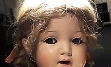 Antike Puppe Mädchen Gelenke beweglich - Schlafaugen
