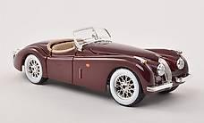 NEU: Jaguar XK 120 Roadster 1948-1954 dunkelrot  1:24