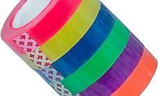 6x Rainbow Tape, bunt-tansp. Washi NEU