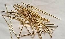 35 Stück - goldiger Stab 45 mm - zum Ohrring basteln