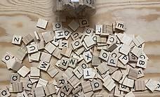 Scrabble Buchstaben aus Holz, 200 Stück
