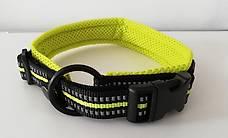 Hundehalsband Neon-gelb L reflektierend Gratis Versand