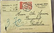 Alte Schweizer Postkarte 1924
