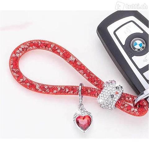 Lady Schlüsselanhänger mit speziellem Design Rot 3