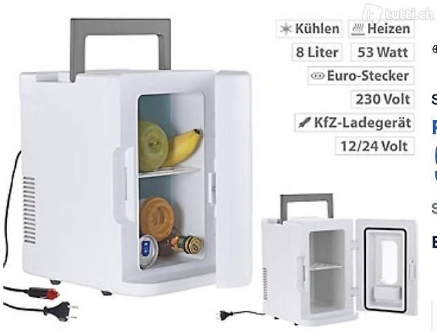 Mobiler Mini-Kühlschrank mit Wärmefunktion, 12 & 230 V, 8 Li