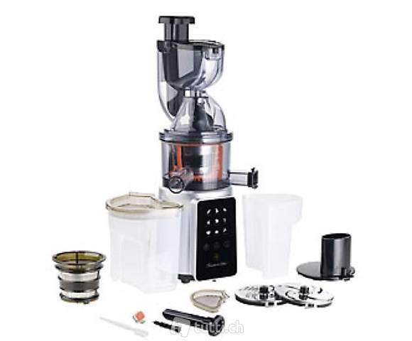 3in1-Slow-Juicer & Entsafter mit Gemüse-Reibe & Eis-Aufsatz,