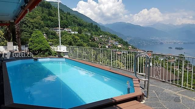 Ferienwohnung , Pool & Sauna in Brissago Tessin Lago