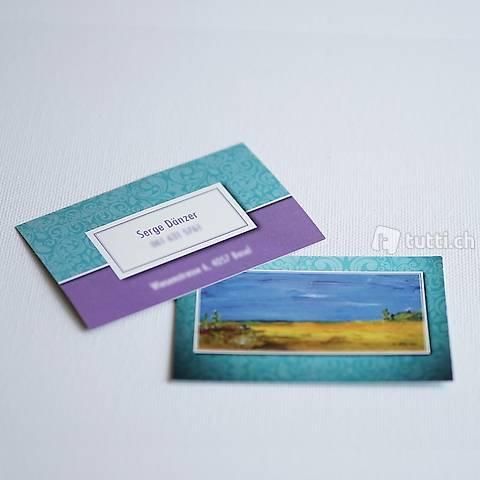 Visitenkarten Erstellen Gestaltung Von Visitenkarten In