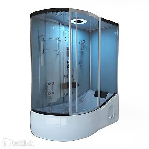 NEU ALLIN 2in1 weiss (links) Badewanne & Dusche in einem ...