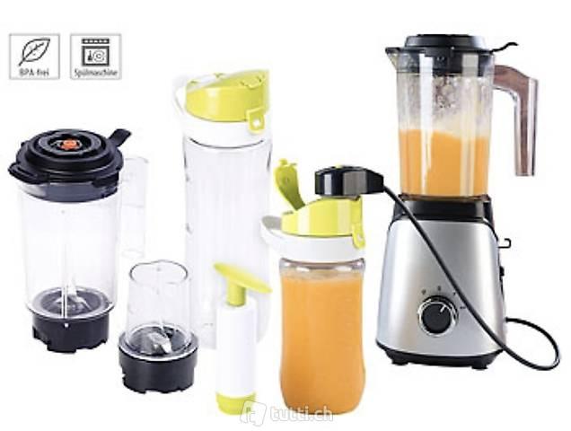 2in1-Vakuum-Mixer mit 3 Stufen, Mahlbecher und 2 Trinkflasch