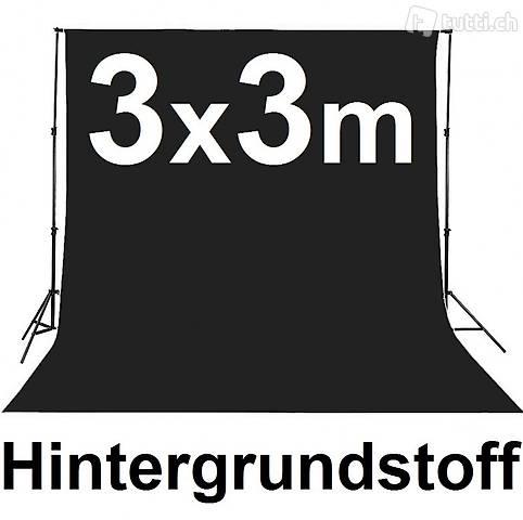 Hintergrundstoff 3x3m schwarz (Gratis Lieferung)