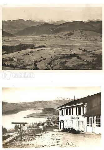 Etzel Kulm 1102 m, zwei alte Ansichtskarten