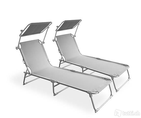 Sedia a sdraio lettino grigio set di (Consegna gratuita) 3