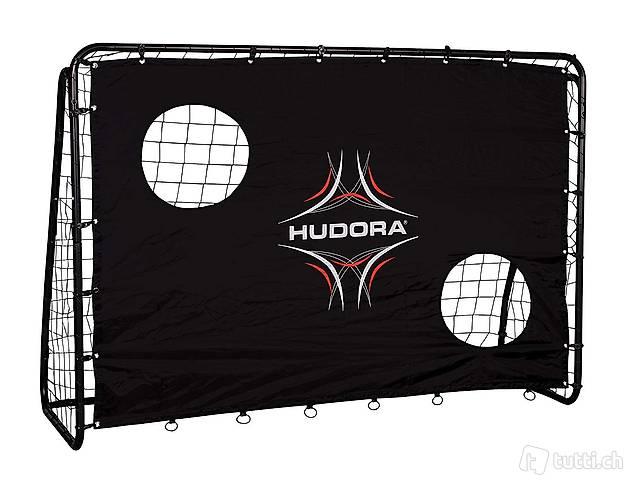 Fussballtor Hudora 76922 black 213 cm x 153 cm x 76 cm