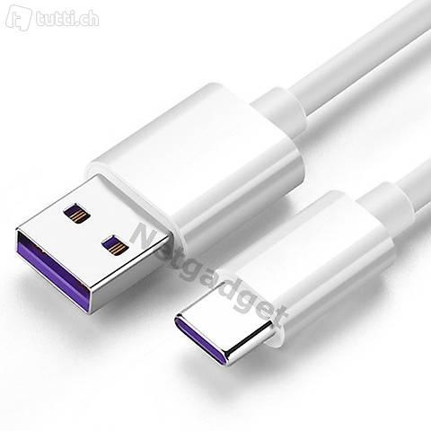 USB Kabel Type-C 5A SuperCharge für Huawei und andere.. - 2m