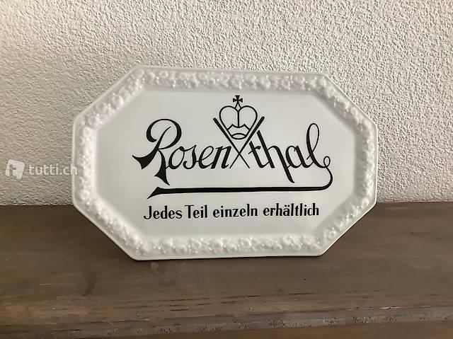 Targa pubblicitaria della Rosenthal