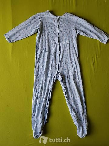 Schlaf Overall Schlafanzug Pyjama 92 98 zum aufknöpfen