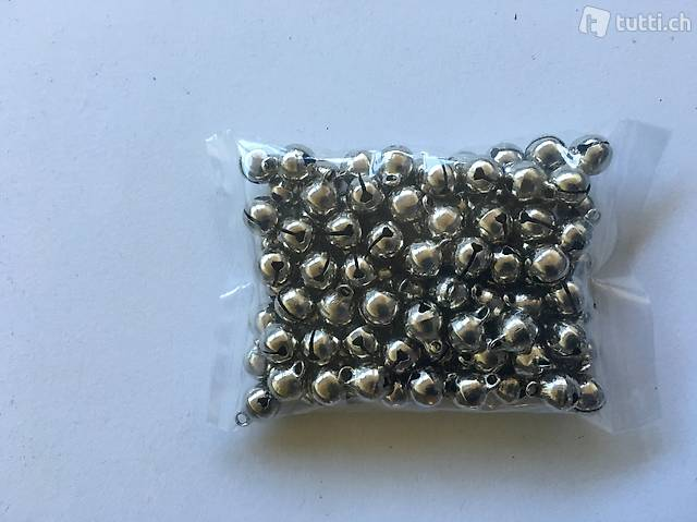 50 Glöckli Silber / Glöckchen 11x7mm