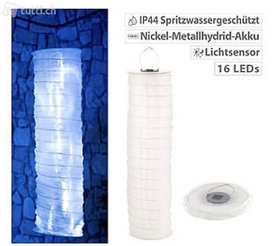 Solar-Außen Lampionschlauch mit 16 LEDs, Dämmerungs-Sensor,