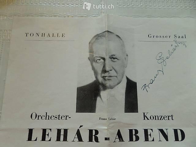 Orginal autogramm von Franz Lehar