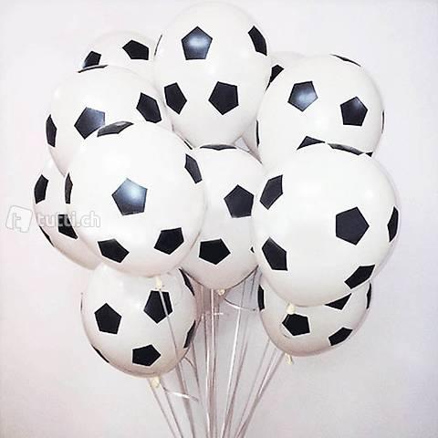 5 Stück 12 Zoll Fussball Latex Luftballons Ball Fussball