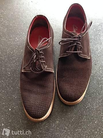 Braune wildleder Herren Schuhe von Clarks Gr. 43, 2xgetragen