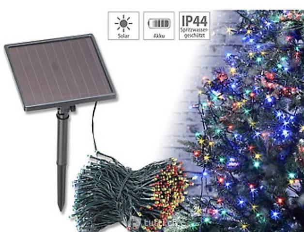 4-farbige Solar-LED-Lichterkette mit 500 LEDs und Timer, IP4